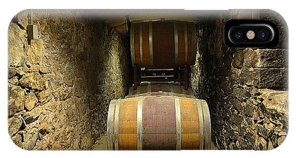 The Biltmore Estate Wine Barrels IPhone Case