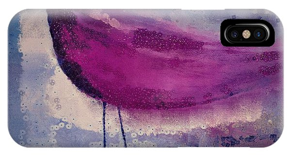 Violet iPhone Case - The Bird - K09144 by Variance Collections