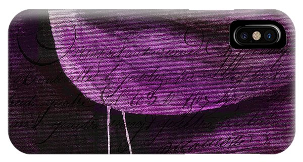 Violet iPhone Case - The Bird - S55prmd01t03 by Variance Collections