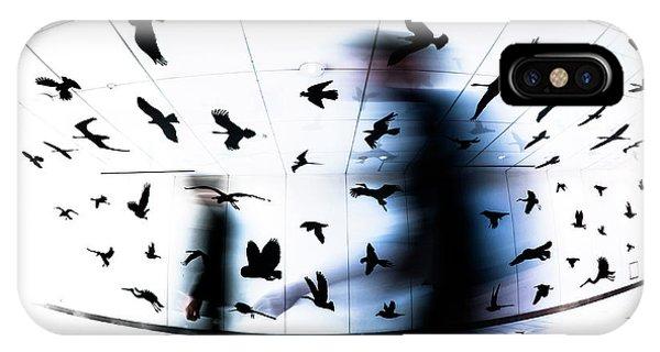 Motion Blur iPhone Case - The Birds by Tetsuya Hashimoto