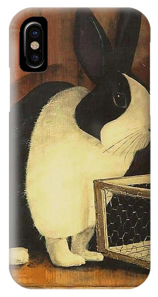 The Black And White Dutch Rabbit  2 IPhone Case