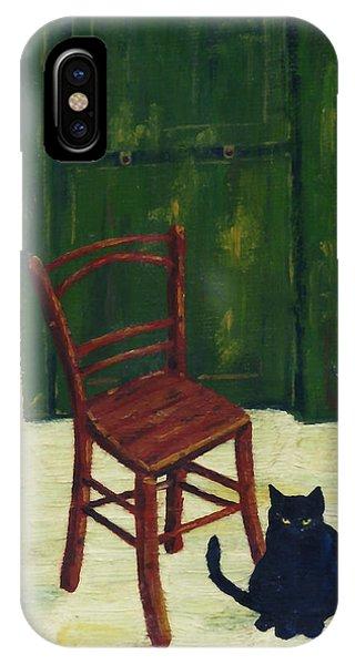 The  Black Cat IPhone Case