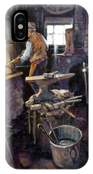 The Blacksmith Phone Case by Richard McDiarmid