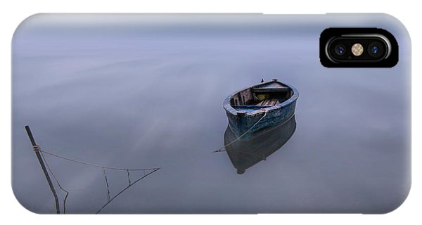 Boat iPhone Case - The Blue Boat by Joaquin Guerola