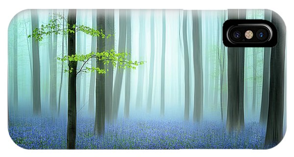 Fog Mist iPhone Case - The Blue Forest ........ by Piet Haaksma