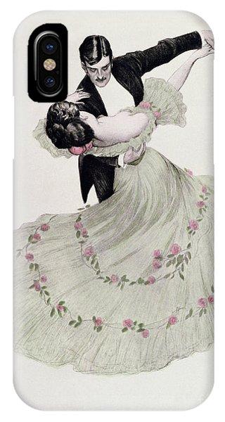Dance iPhone Case - The Blue Waltz by Ferdinand von Reznicek