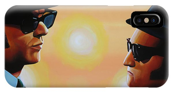 Popstar iPhone Case - The Blues Brothers by Paul Meijering