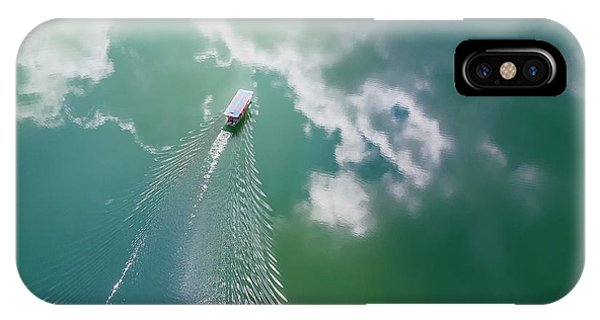 Ripples iPhone Case - The Boat Painting by Zhou Chengzhou