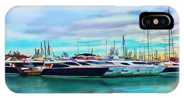 The Boats Of Malaga Spain IPhone Case