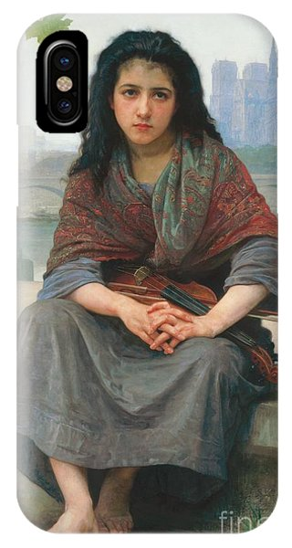 Violin iPhone Case - The Bohemian by William Adolphe Bouguereau