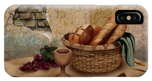 Life Of Christ iPhone Case - The Bread Of Life by April Moen