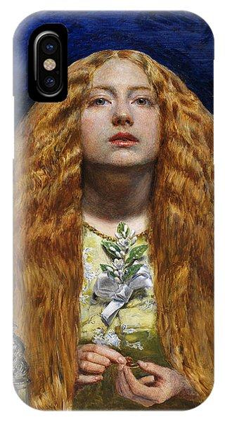 1851 iPhone X Case - The Bridesmaid, 1851 by Sir John Everett Millais