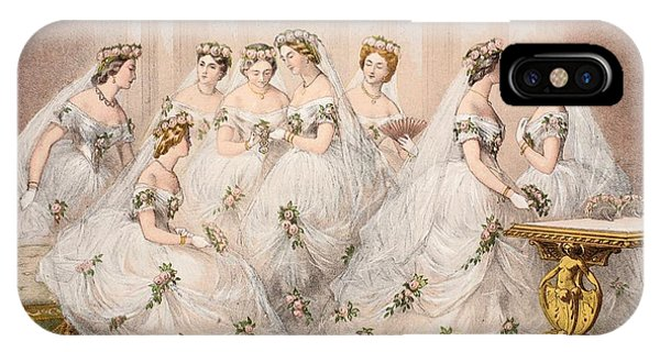 Bridal iPhone Case - The Bridesmaids, 10th March, 1863 - Marriage Of Edward Vii And Alexandra Of Denmark by English School