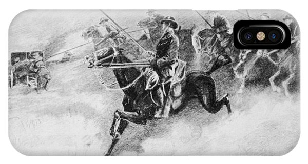 The British Cavalry In Action As Late Phone Case by Mary Evans Picture Library