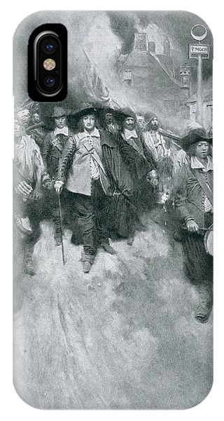 Bacon iPhone Case - The Burning Of Jamestown, 1676, Illustration From Colonies And Nation By Woodrow Wilson, Pub by Howard Pyle