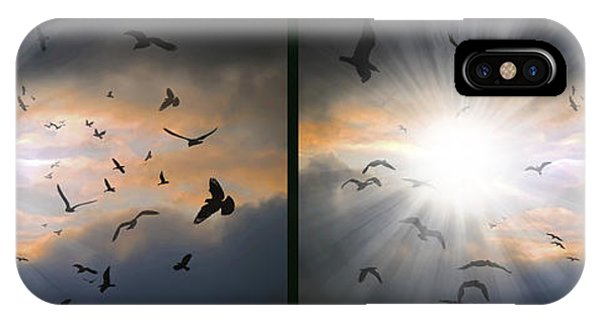 The Call - The Caw - Gently Cross Your Eyes And Focus On The Middle Image IPhone Case