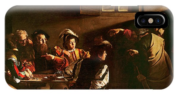 Life Of Christ iPhone Case - The Calling Of St Matthew by Michelangelo Merisi o Amerighi da Caravaggio