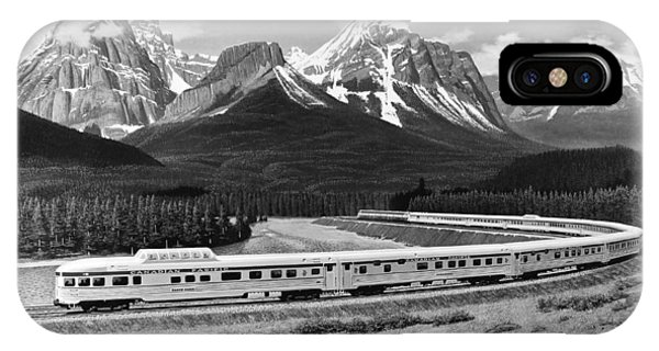 Stainless Steel iPhone Case - the Canadian Train by Underwood Archives