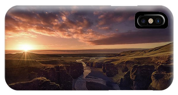 Panorama iPhone Case - The Canyon by Javier De La