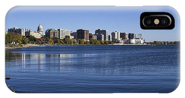 The Capitol And Monona Terrrace - Madison - Wisconsin IPhone Case