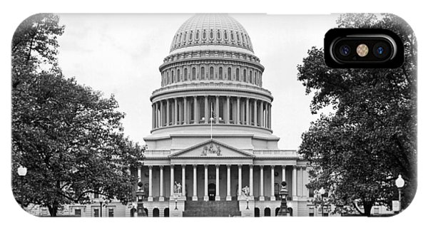 Capitol Building iPhone Case - The Capitol Building by Underwood Archives
