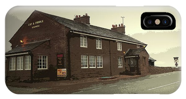 The Cat And Fiddle Public House, Pictured Here Phone Case by Litz Collection