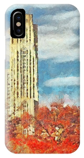 The Cathedral Of Learning At The University Of Pittsburgh IPhone Case