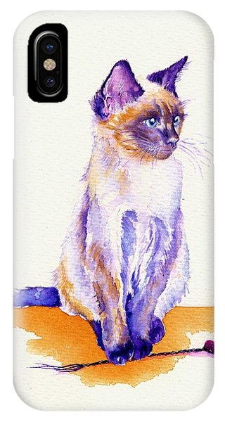 Cat iPhone X Case - The Catmint Mouse Hunter by Debra Hall