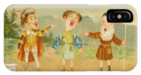 Free Will iPhone Case - The Celebrated Trio From Act  Two by Mary Evans Picture Library
