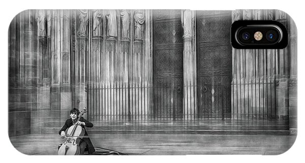 French iPhone Case - The Cellist by Roswitha Schleicher-schwarz