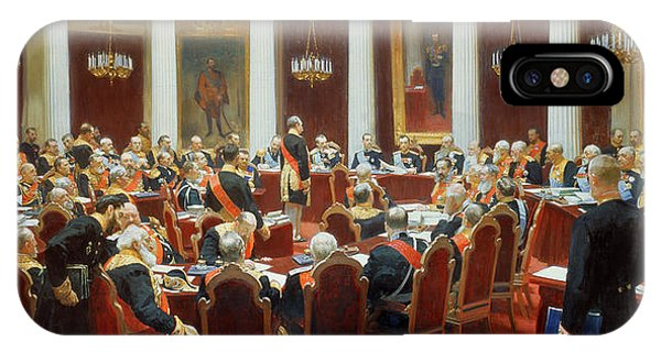 Ceremony iPhone Case - The Ceremonial Sitting Of The State Council 7th May 1901 by Ilya Efimovich Repin