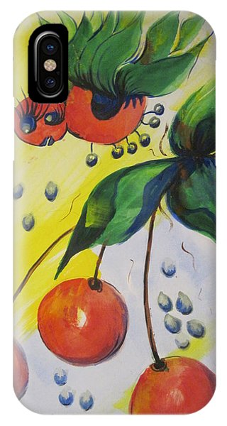 The Cherry Fairy Phone Case by Shirley Watts