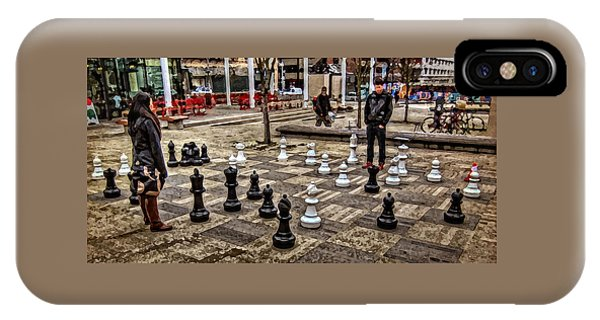 The Chess Match In Portland IPhone Case