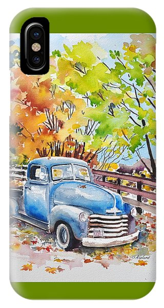 The Old Chevy In Autumn IPhone Case