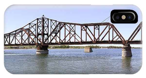 Trestle iPhone Case - The Chicago And North Western Railroad Bridge Panoramic by Mike McGlothlen