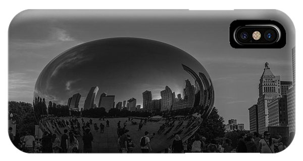 Bean Town iPhone Case - The Chicago Bean Black And White by David Haskett II