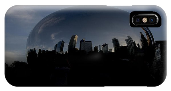 Bean Town iPhone Case - The Chicago Bean In Millenium Park by David Haskett II
