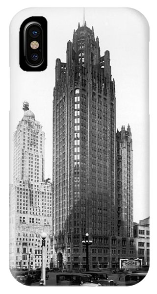 The Chicago Tribune Building IPhone Case