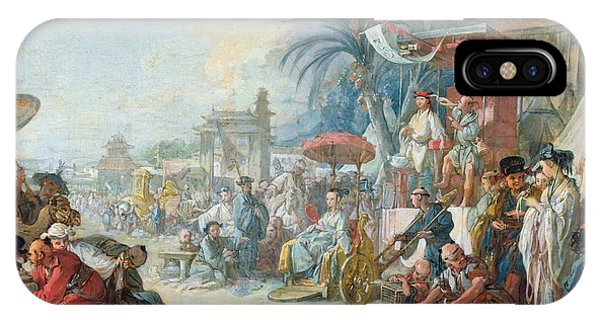 The Chinese Fair, C.1742 Oil On Canvas IPhone Case