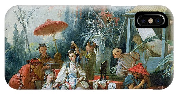 Sketch iPhone Case - The Chinese Garden, C.1742 Oil On Canvas by Francois Boucher