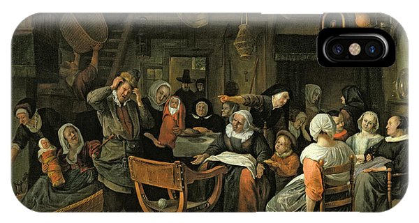 The Christening Feast, 1668 Oil On Canvas IPhone Case