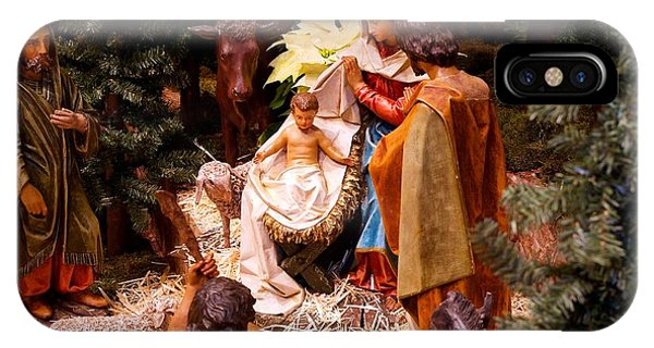 The Christmas Creche At Holy Name Cathedral - Chicago IPhone Case
