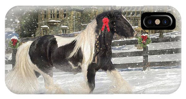 Winter iPhone Case - The Christmas Pony by Fran J Scott
