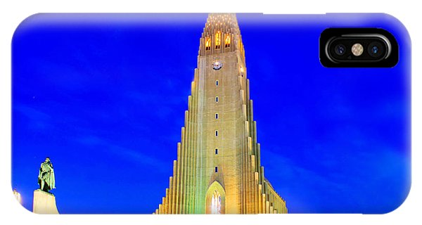 The Church Of Hallgrimur Reykjavik IPhone Case