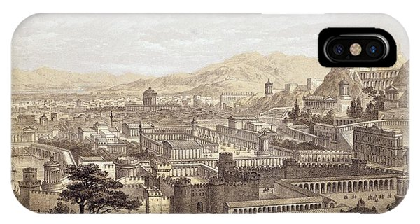 The City Of Ephesus From Mount Coressus IPhone Case
