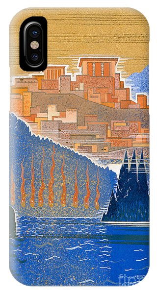 Forbidden City iPhone Case - The City Of Troy From The Sea by Francois-Louis Schmied