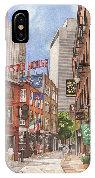 Bean Town iPhone Case - The City On A Hill by Josh Marks