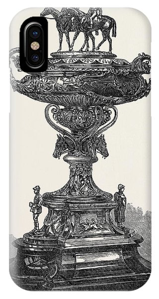 Stamford iPhone Case - The Cliefden Cup Stamford Races 1867 by English School