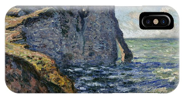 Normandy iPhone Case - The Cliff Of Aval, Etretat, 1885 by Claude Monet