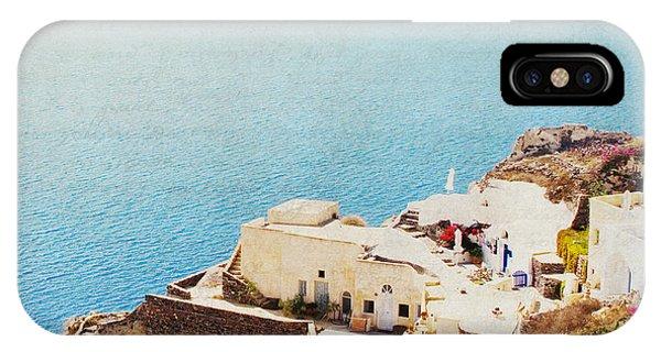 The Cliffside - Santorini IPhone Case